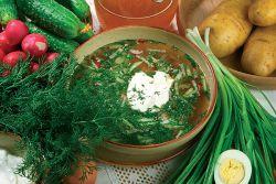 okroshka рецепта за квас с наденица