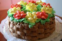 Как красиво украсить детский торт на день рождения кремом 13