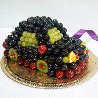 как украсить детский торт фруктами 6