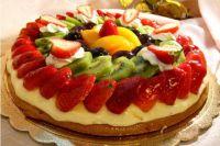 как украсить торт фруктами в желе 2