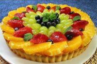 как украсить торт фруктами в желе 4