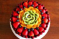 как украсить торт фруктами в желе 5
