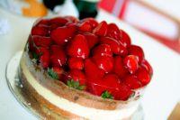 как украсить торт фруктами в желе 6