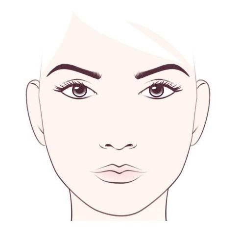 овални облик лица
