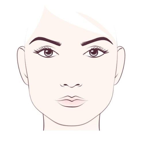 квадратни облик лица 1