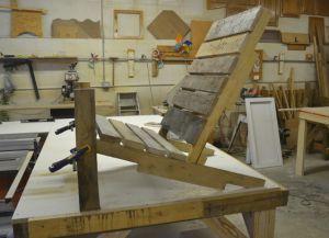 Како направити лежаљку од дрвета с властитим рукама 6