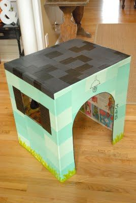 kako narediti hišo iz škatle13