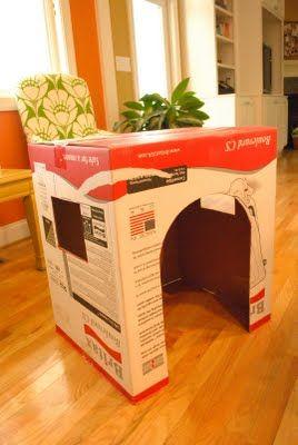 kako narediti hišo iz škatle3