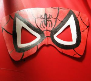 Kako napraviti Spiderman mask3