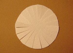 jak zrobić papierową stokrotka 3
