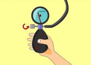 kako naučiti mjeriti tlak mehaničkim tonometrom 5
