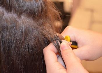 Како уклонити продужетак косе 2