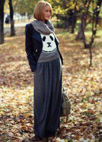 как да носите шал с кожено яке3