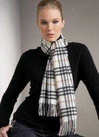 как да носите шал 2