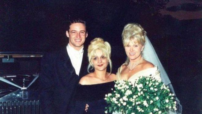 Деборра Ли Фернесс и Хью Джекман - фото со свадьбы