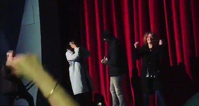 Идрис Эльба и Сабрина в кинотеатре Рио в Голливуде