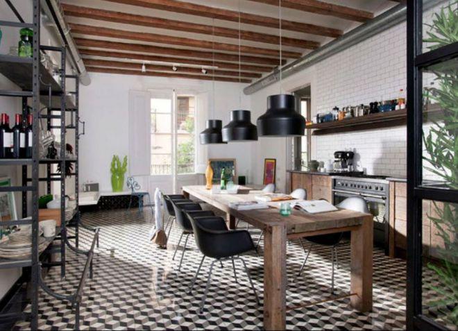 3_Кухня в индустриальном стиле_фото