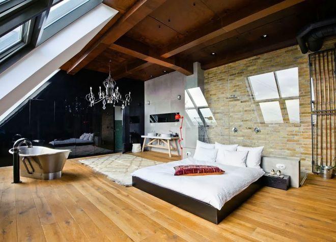 6_Индустриальный стиль в дизайне интерьера спальни_фото