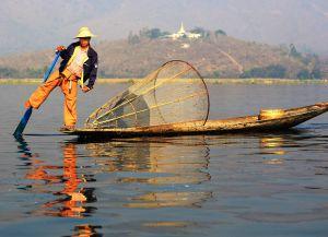 Рыбная ловля на озере Инле