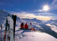 На Кипре тоже бывает снег и можно покататься на горных лыжах