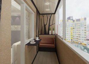 Interijer uskog balkona -2