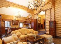 Wnętrze salonu w house3