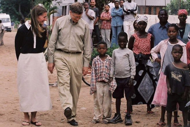 Билл и Мелинда в Африке в экспедиции
