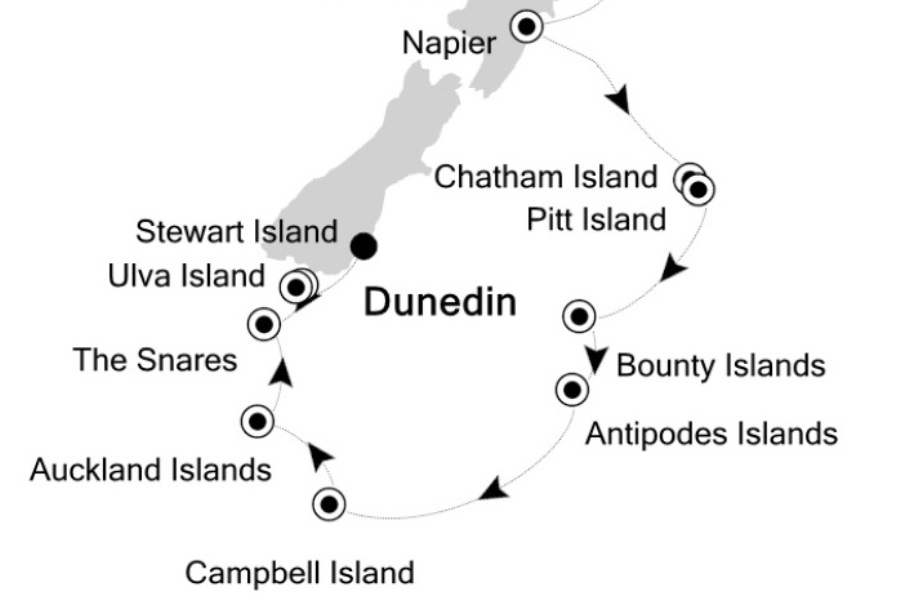 Карта-схема островов