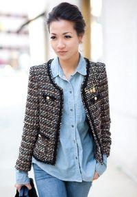 klasičen tweed jopič