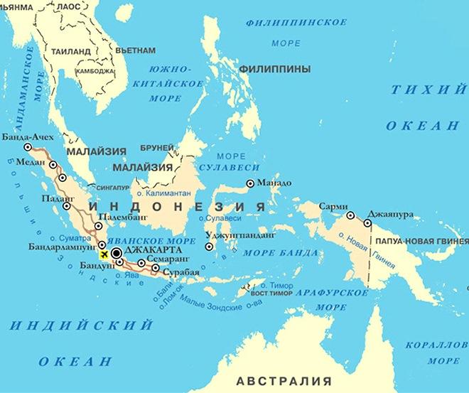 Джакарта на карте мира