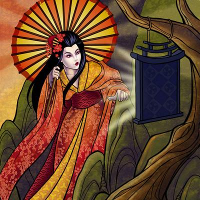 Японска богиня на слънцето