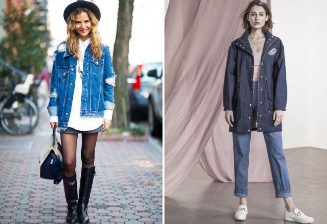 с чем носить легкую джинсовую парку