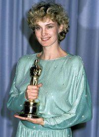 Джессика Лэнг с Оскаром 1983 год