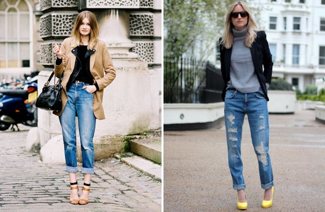 с чем носить женские джинсы с подворотами