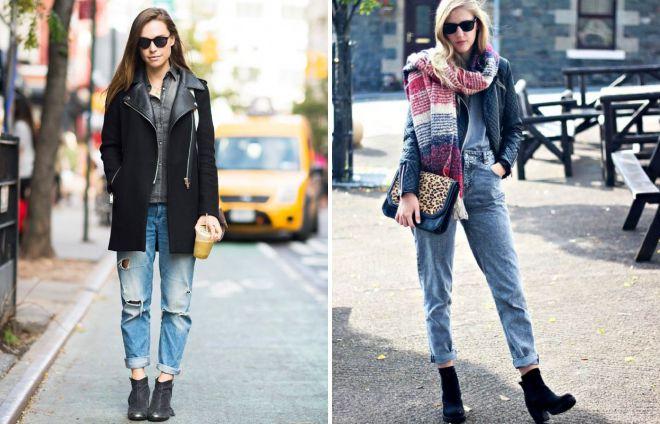 подвернутые джинсы зимой
