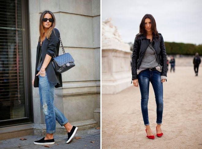 подвернутые джинсы какая обувь
