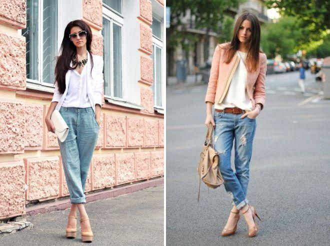 как носить джинсы с подворотом