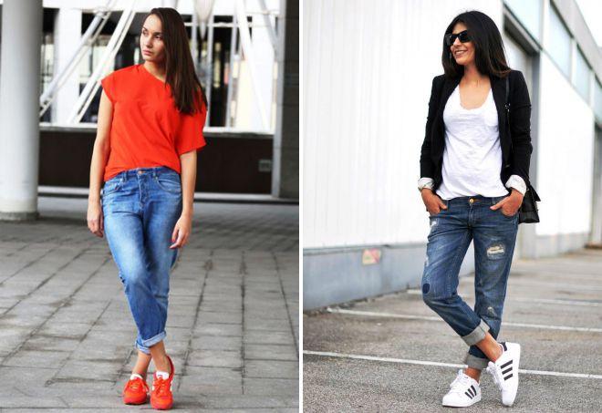 модные джинсы с подворотами