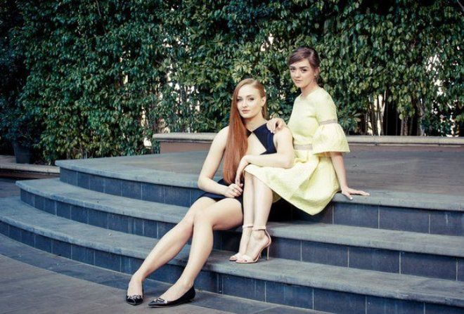Софи Тернер и Мэйси Уильямс