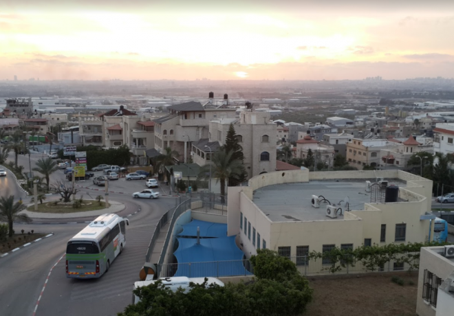 Вид сверху на Кафр-Касем