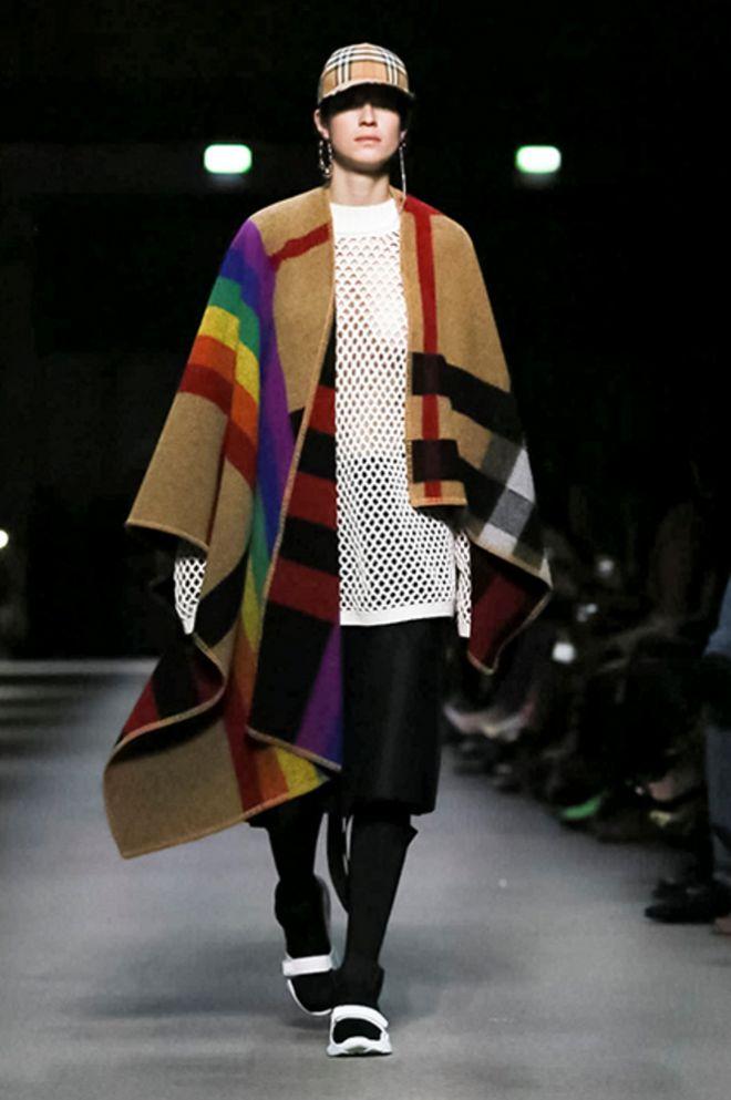 Накидка с разноцветными полосами