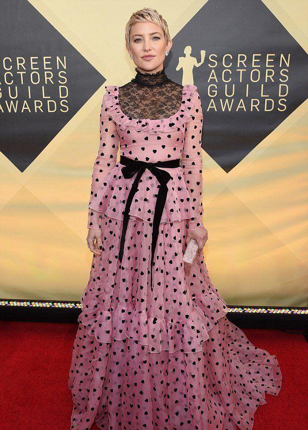 Кейт Хадсон в воскресенье вечером на SAG Awards в Лос-Анджелесе