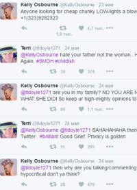 В своем Twitter Келли написала номер телефона Пью