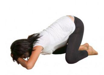 položaj koljena koljena za trudnice
