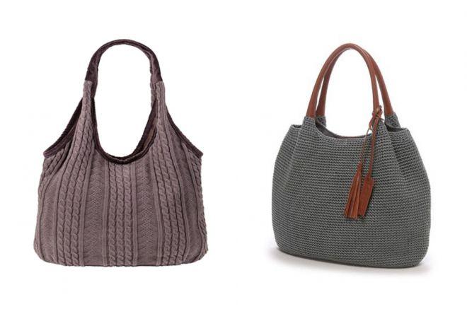 вышитые вязаные сумки