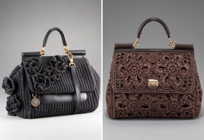 модные вязаные сумки
