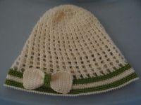 szydełkowa czapka dla dziewczynki 37