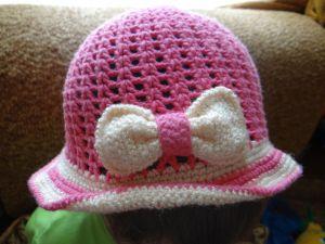 szydełkowa czapka dla dziewczynki 39