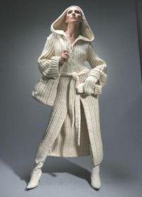 Płaszcz z dzianiny 1