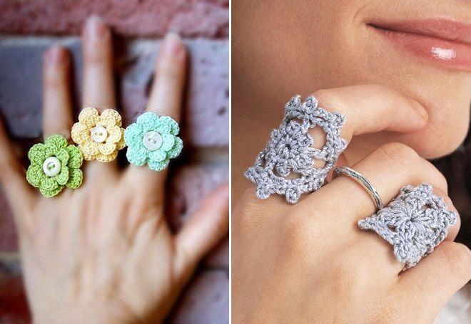 вязаное кольцо на палец
